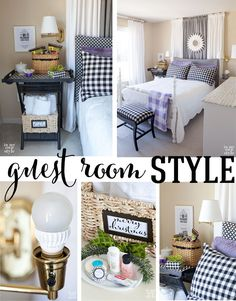 Guest Room Style: A Guest Room Decorating Checklist by In My Own Style
