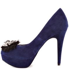BCBGeneration Women's Scottie - Dark Navy Suede $109.99