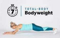 This seven-minute circuit includes bodyweight resistance exercises. This seven-minute circuit includes bodyweight resistance exercises. My Fitness Pal, Workout Fitness, Bodyweight Fitness, Boxing Workout, Fitness Marshall, Fitness Plan, Fitness Tracker, Bodyweight Strength Training, Jogging In Place