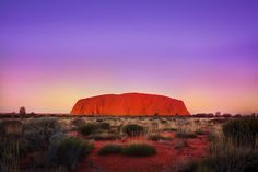 Uluru (Ayers Rock) - sacred Aboriginal land. Alice Springs, Northern Territory. A World Heritage Site.