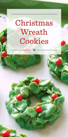 This retro Christmas Wreath Cookie recipe is making a comeback--and it's an easy for the kids to make, too. The perfect Christmas cookie to greet guests!