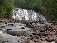 Potato River Falls, Gurney, WI. Close to home. Been there. Beautiful!