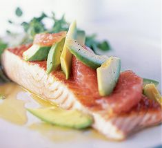 Salmon With Avocado & Grapefruit Recipe on Yummly. @yummly #recipe
