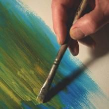 Peindre à l'acrylique : Appliquer un frottis