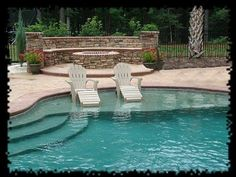 Swimming pool builders can help you from beginning to finish during the building procedure. It's a fact that inground pools can be immensely costly and are normally in the backyard of a big a pricey residence. It's exciting to have your own pool. Pool Spa, My Pool, Luxury Swimming Pools, Dream Pools, Outdoor Spaces, Outdoor Living, Outdoor Kitchens, Living Pool, Pool Builders