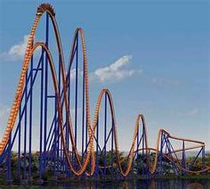 Best ride ever! - The Behemoth Roller Coaster at Canada's Wonderland, located in Vaughan, Ontario, Canada Top 10 Roller Coasters, Crazy Roller Coaster, Fastest Roller Coaster, Ontario, Grand Parc, Amusement Park Rides, Water Slides, Destinations, Attraction