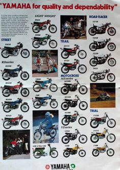 Vintage Original Early 70's Yamaha Sales Brochure RARE Excellent | eBay