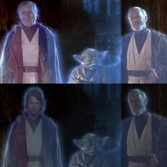 Day 23. Something I wish was different: Anakin Force ghost. I really wish that Lucas had decided to keep the Sebastian Shaw Anakin, instead if replacing him with the Hayden Christensen Anakin. Many fans will say that the young Anakin ghost is his true form, because that's what he looked like when was truly good, before he turned to the dark side. This makes sense, but then again, he redeemed himself right before he died, turning back to the light side, and giving us the older Anakin ghost…