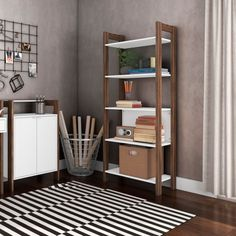 Guarda-Roupa Closet Modulado Belga Branco Nogal Shelving, Entryway, Closet, Furniture, Home Decor, Campinas, Environment, Shelves, Entrance