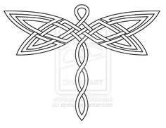 dragonfly celtic tattoo images | Celtic Knot Dragonfly 2 Revis by *dystar on deviantART