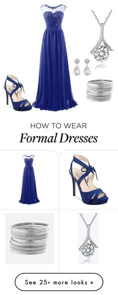 """""""Formal Date/Dance"""" by ibelonginmiddleearth on Polyvore featuring GUESS, Avenue and Kenneth Jay Lane"""