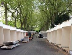Day 1. Building stands for 2014 Chelsea Flower Show.