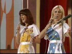 """ABBA - S. 1975 (High Quality) Maxi version of the famous """"Cat"""" outfits! 70s Music, Music Songs, Music Videos, Abba Sos, Beatles, All Lyrics, One Hit Wonder, It Hurts Me, Chant"""