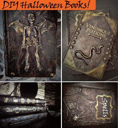 Easy DIY altered books for Halloween!  These are so fun to make.
