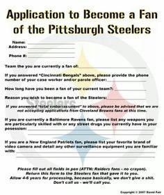Steelers Fan application!
