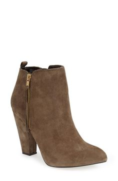 Free shipping and returns on Steve Madden 'Jannyce' Fringe Bootie (Women) at Nordstrom.com. Decorative fringe hangs from the goldtone zippers of an essential bootie shaped in soft suede and lifted by a sturdy wrapped heel.