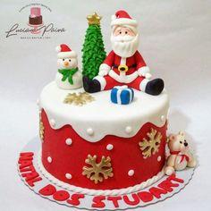 Christmas And New Year, Winter Christmas, Christmas Ideas, Xmas, Christmas Cake Decorations, Christmas Cakes, Cake Decorating Techniques, Cake Servings, Buttercream Cake