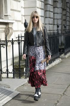 Kerry Pieri in a Stella McCartney skirt, Reformation jacket, Céline shoes and a Gucci bag