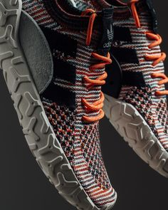"""adidas Atric Primeknit """"Trace Orange"""" // Available Now Casual Sneakers, Sneakers Fashion, Casual Shoes, Shoes Sneakers, Addidas Shoes Mens, Adidas Shoes, Futuristic Shoes, Steampunk Shoes, Diadora Sneakers"""