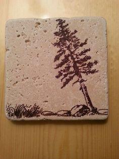 My DIY stamped tile coaster,  #1
