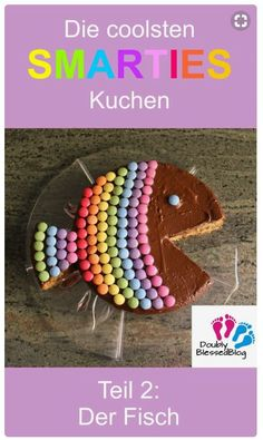The coolest birthday cakes: the rainbow fish - The coolest SMARTIES cakes – colorful and sweet! Part The Rainbow Fish – Baking a cake for t - Fish Cake Birthday, Birthday Tags, Cool Birthday Cakes, Rainbow Birthday, The Rainbow Fish, Smarties Cake, Pear Cake, Cake Games, Pumpkin Spice Cupcakes