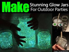 This is a post I had to share. What a cool looking addition to an outdoor party – glow jars. They are easy to make, just like the LED canning jar garden lights. All you need are 4 items: mason jars waterproof glowing paints paintbrushes water Glow Jar Project Translated Into English NOTE: The site …