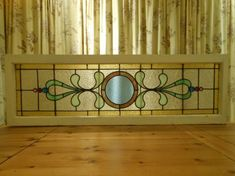 This is how I can use the clear beveled circles! Antique Stained Glass Windows, Stained Glass Designs, Stained Glass Panels, Stained Glass Projects, Stained Glass Patterns, Leaded Glass, Stained Glass Art, Mosaic Glass, Mosaic Windows
