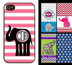 Custom Elephant Print Monogram Phone Case on Etsy, $10.00