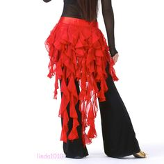 New Sexy Belly Dance Costume Hip Scarf Belt Waves tassel Skirt 14 colours #Unbranded