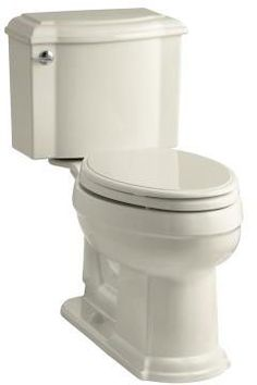 View the Kohler K-3837 Devonshire 1.28 GPF Two-Piece Elongated Comfort Height Toilet with AquaPiston Technology - Seat Not Included at FaucetDirect.com.