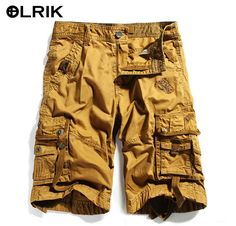 3eba2898e6 2016 Brand New Mens Cargo Shorts Army Camouflage Shorts Men Cotton Loose  Work Casual Military Short Pants Plus Size No Belt 3233