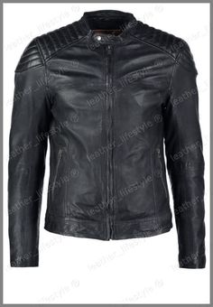 Lambskin Leather Jacket Mens Slim fit Real Biker Motorcycle New Style Black X15