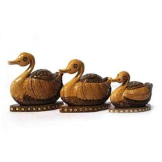 NEW LAUNCHED.... ANTIQUE FINISH SWAN SET OF 3 - A beautiful set of ‪#‎home‬ ‪#‎decor‬ item.... Price: Rs 1,111 only