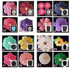 Discover thousands of images about como fazer flores de papel para festas passo a passo Risultati immagini per giant paper flower patterns images attach d 1 133 333 How to Make Giant Paper Flowers to Make Up Your Décor - Inspire Your Party ® PDF Giant 4 Giant Paper Flowers, Paper Roses, Felt Flowers, Diy Flowers, Fabric Flowers, Diy Cardstock Flowers, How To Make Paper Flowers, Unique Flowers, Flower Ideas