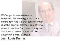 Jean Louis Dumas former CEO of Hermes