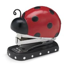 Adorable Ladybug Mini Stapler with 2000 Staples Included Gift Boxed