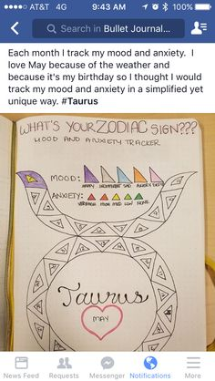 Mood tracker with anxiety tracker inside