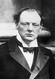 Portrait of Member of Parliament Winston Churchill 1904.