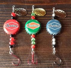This is the best fishing lure DIY we've seen yet! What a great way to re-purpos… This is the best fishing lure DIY we've seen yet! What a great way to re-purpose and recycle your bottle caps! Best Fishing Lures, Homemade Fishing Lures, Crappie Fishing, Gone Fishing, Fishing Tips, Bass Fishing, Fishing Shirts, Fishing Tackle, Bass Lures