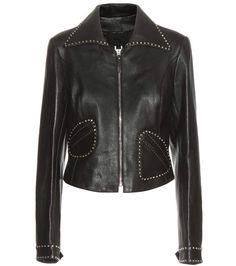 MARC JACOBS Embellished Leather Jacket. #marcjacobs #cloth #jackets