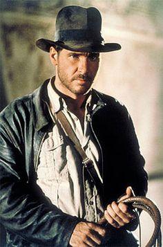i jones hat, leather jacket & whip