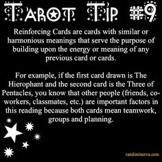 Tarot Tip #9: Reinforcing Cards