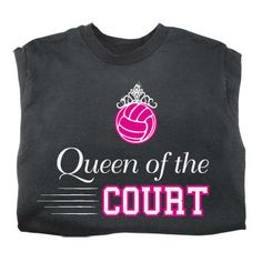 Tandem Queen Of The Court Volleyball T-Shirt