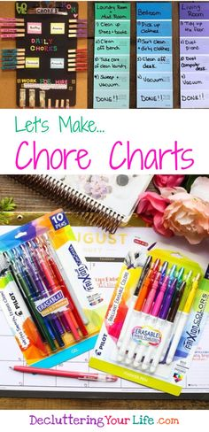 Homemade Chore Chart Ideas