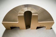 Flexibel bænk i pap - 8 el. 16 pers. model