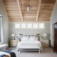 Sloped/single pitch ceiling with wood