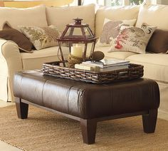coffee table decorating ideas | Coffee Table vs Ottoman » Bright Bold and Beautiful Blog
