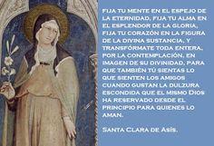 Frases en imagenes: Frases de Santa Clara de Asis