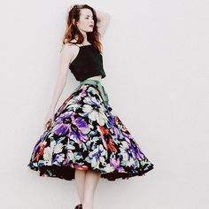 Just posted this 50s dream skirt. It's original owner had kept it in a climate-controlled vault. It's like new! seaofshoes