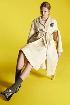Since Alessandro dell'Acqua took the creative helm at Rochas just a couple of years ago, we've admired they way in which he's injectedbeautiful juxtapositions into the brand. Architectural femininity, lightweightvolume, casual decadence . . . it always works. For his resort collection,